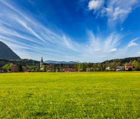 German countryside and village