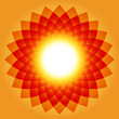 Sunburst abstract, vector illustration