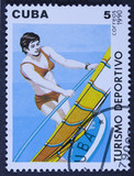 Stamp printed in Cuba dedicated to sports.