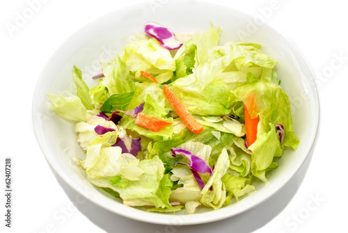 Fotobehang Salade Appetizer Salad in a White Bowl