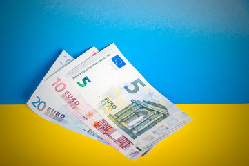 Euro on the Ukrainian flag