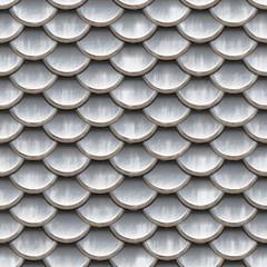 Seamless scales snake skin texture silver