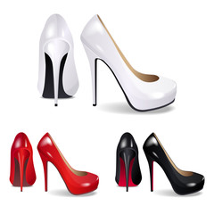 high-heeled shoes