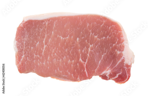 Pork Loin Steak On White Background