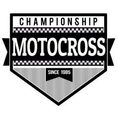 Motocross championship label or stamp
