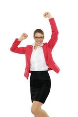 Geschäftsfrau Freude 2