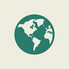 Ecology Icon. Flat Design. Vector EPS 10.