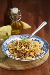 Pasta with lamb and herbs