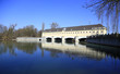 canvas print picture - Wasserkraftwerk Isar Stauwehr Oberföhring bei München (2)