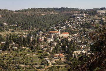 View on the landmarks of Jerusalem .