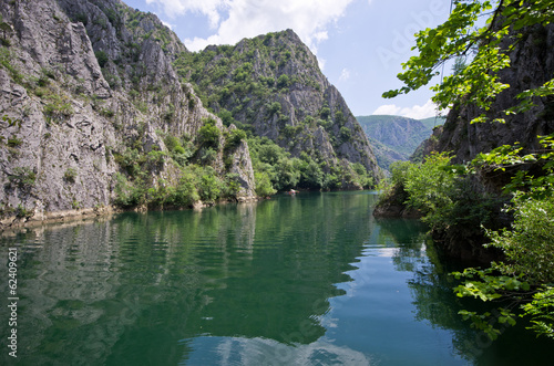 Lake in Canyon Matka, Macedonia