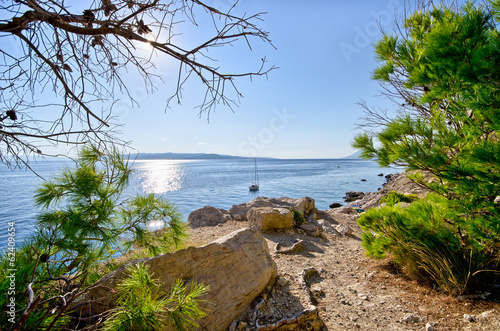 Croatian seashore with rocks