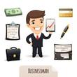 Businessmans icons set
