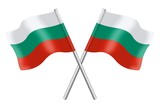 Two Bulgarian flags