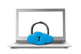 Cloud shape lock with notebook