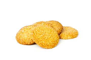 Couple of sesame cookies