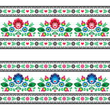 Seamless Polish folk pattern with flowers - 62411003