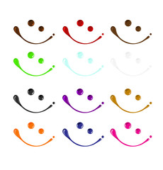 Mix set color of smiley face