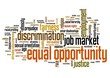 Equal opportunity - word cloud concept