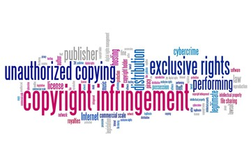 Copyright infringement - word cloud concept