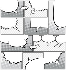 Greyscale Comic Book Page Template