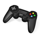 Gamepad joypad for video game console isolated