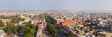 Panorama of aerial view of Jaipur, Rajasthan, India