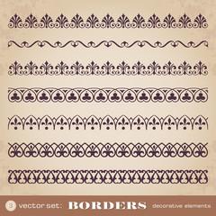 Borders decorative elements set 3