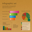 infographic set on brown paper
