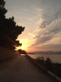 sunset near the beach in croatia