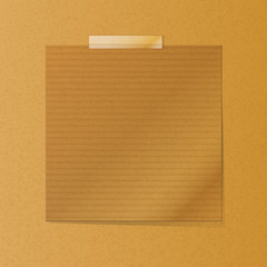 brownpaper note on texture background