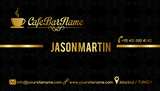Cafe bar business card black