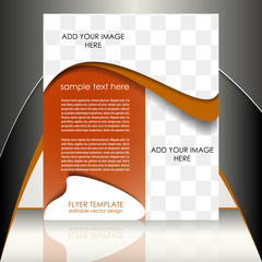 Business flyer template for corporate banner