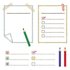 手描き風チェックリスト / vector eps
