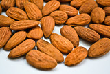 Almonds handful background