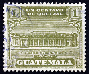 Postage stamp Guatemala 1927 General Post Office in Guatemala Ci