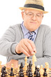 Pensioner playing chess