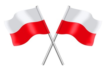 Two Polish flags
