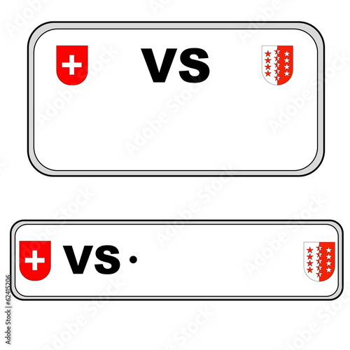 Valais plate number, Switzerland