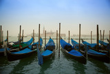 Venice with gondolas on Grand Canal against San Giorgio