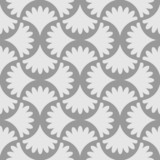 Gray seamless floral wallpaper pattern