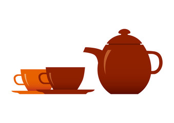 Teacup and teapot