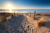 Fototapety path to sand beach in North sea