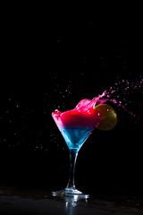 Fresh milky cocktail splashing