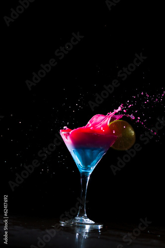 Fresh milky cocktail splashing