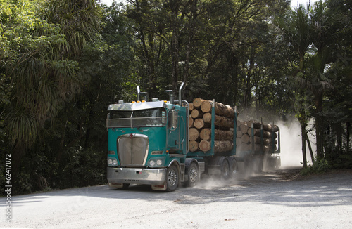 Logging truck North Island New Zealand