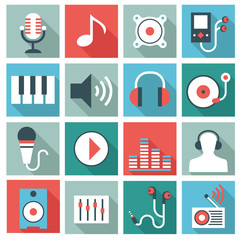 Audio video equipment icons
