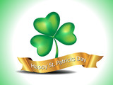 St. Patrick's Clover With Golden Ribbon