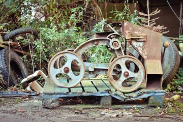 Antique grain barrow