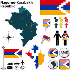 Map of Nagorno-Karabakh Republic